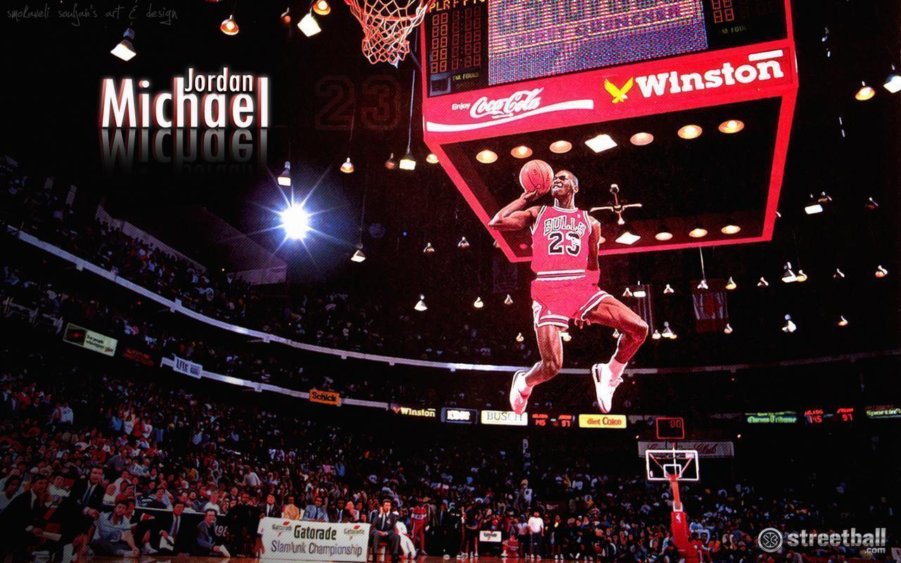 Michael Jordan Dunk Wallpaper 22534 Wallpapers HD | colourinwallpaper.