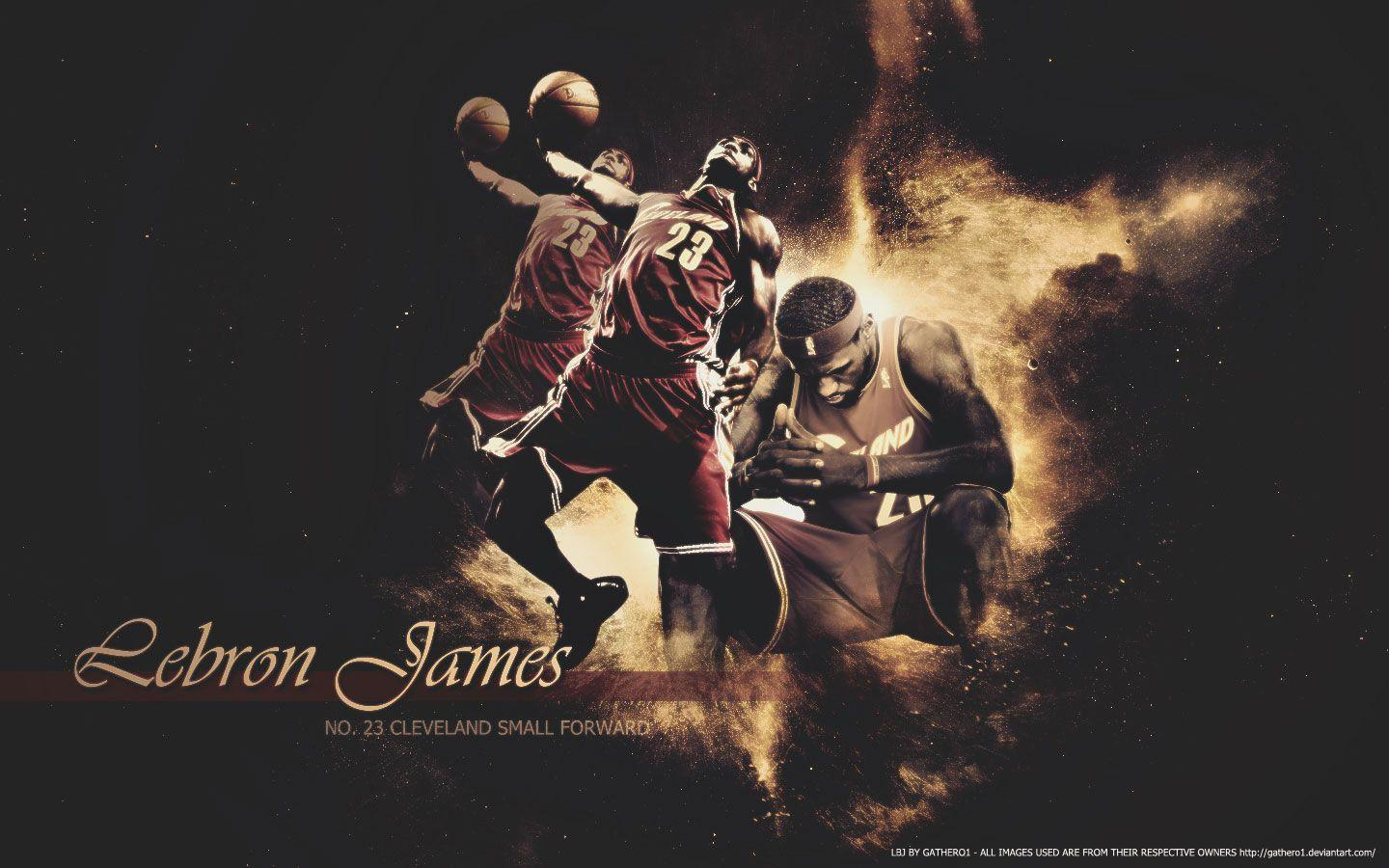 LeBron James Thinking Dunk Widescreen Wallpapers