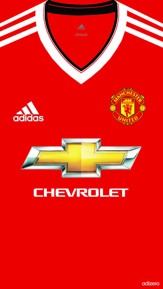 Manchester United Home kit 2015/16 iphone 5 5s 6 wallpapers