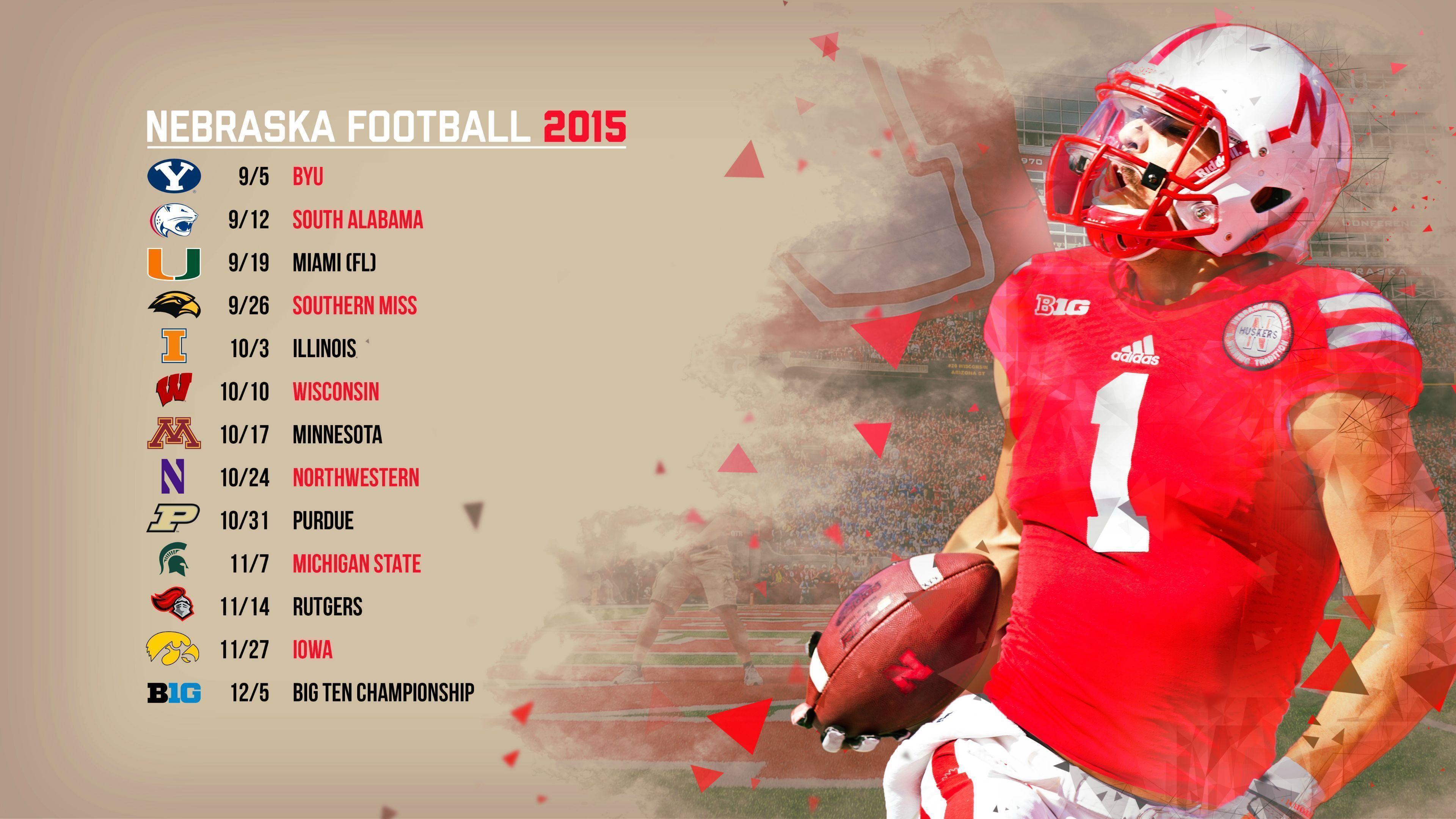 2016 oklahoma university football schedule wallpapers - Nebraska football wallpaper ...