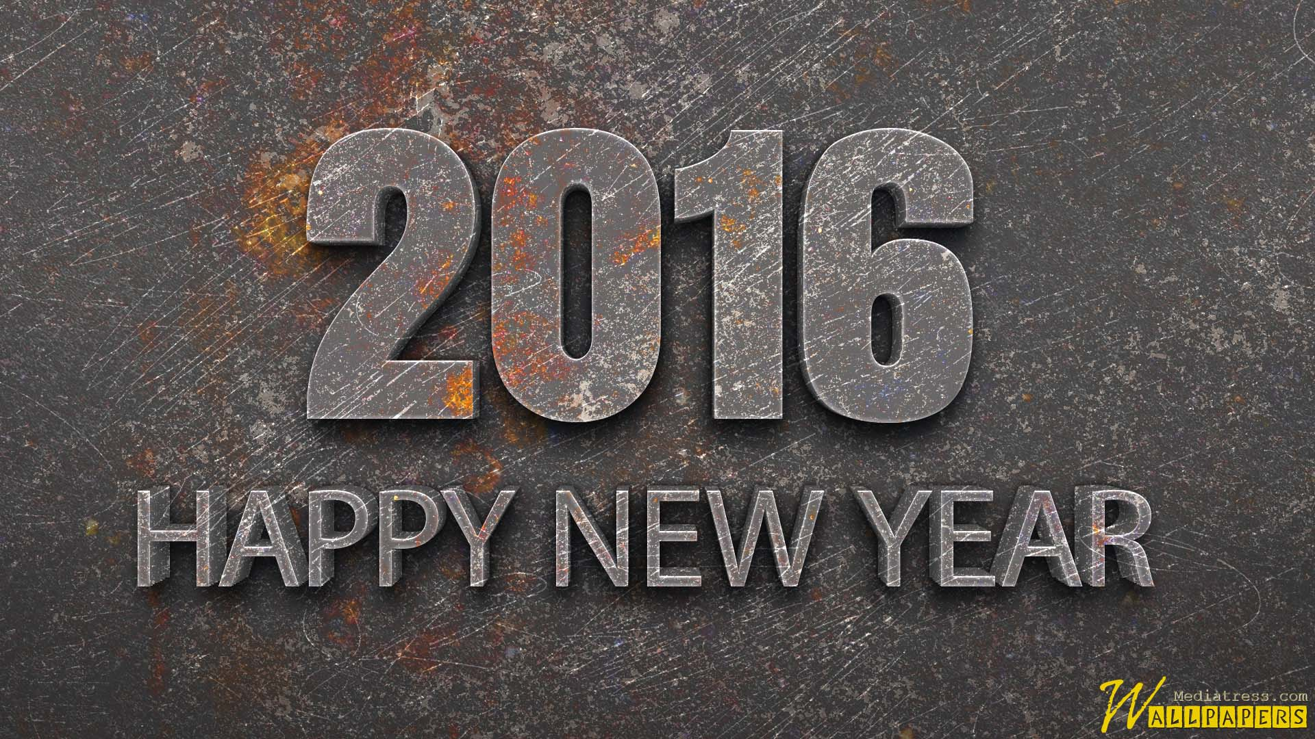 3D Iron New Year 2016 Wallpapers Free For Windo Wallpapers