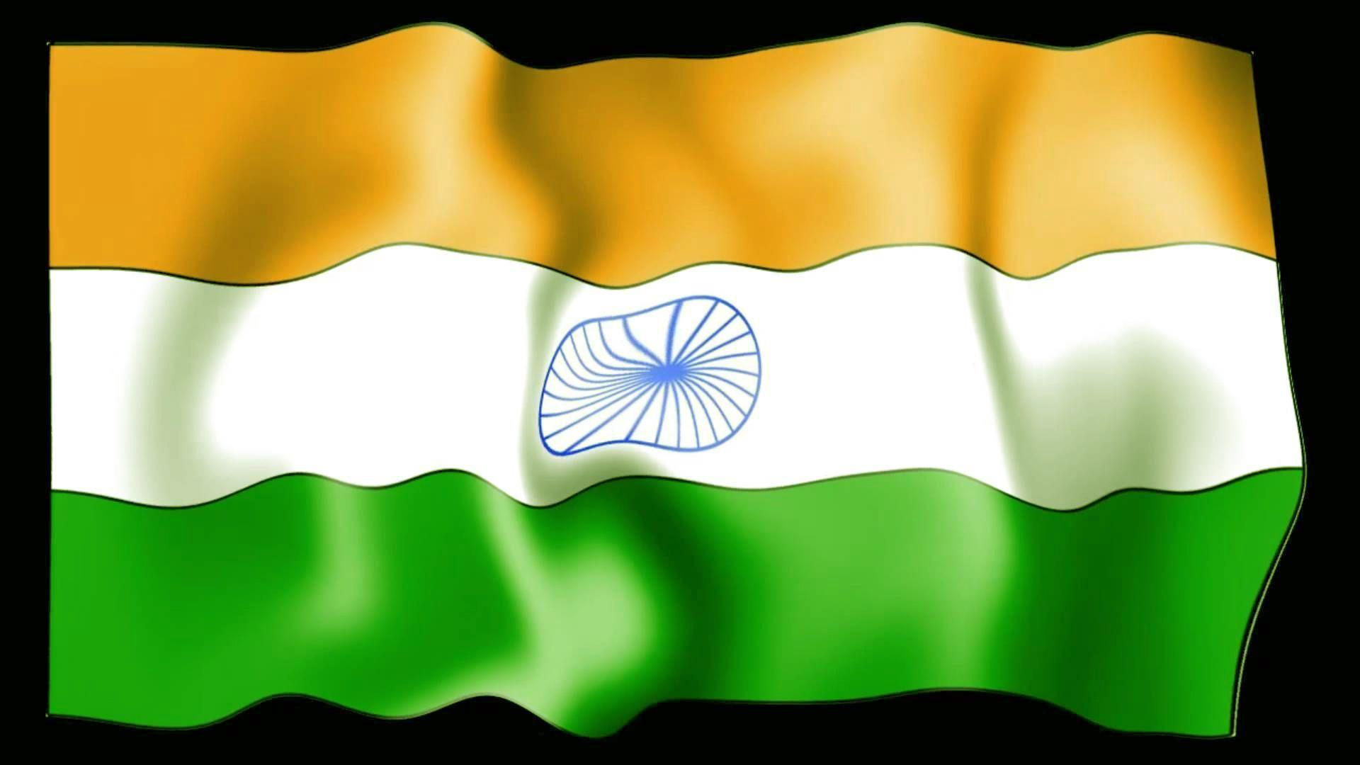 Indian Animated Flag Waving: Indian Independence Day HD Pic Wallpapers 2016