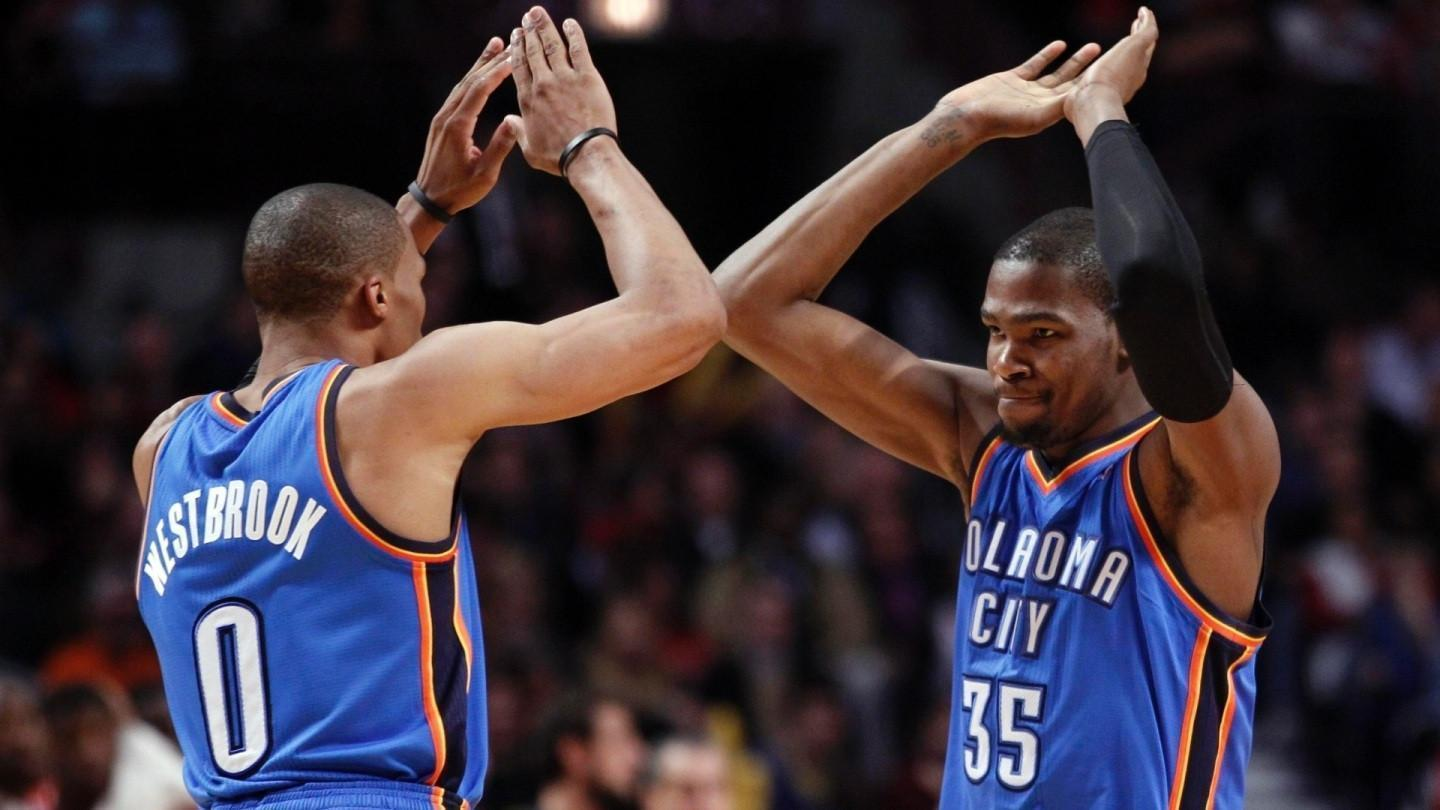 Kevin Durant And Russe...