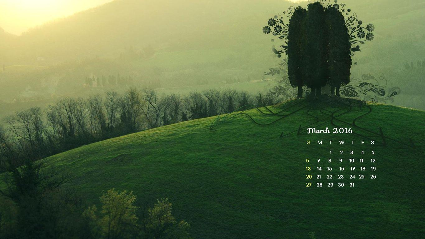 desktop wallpapers calendar march 2016 wallpaper cave