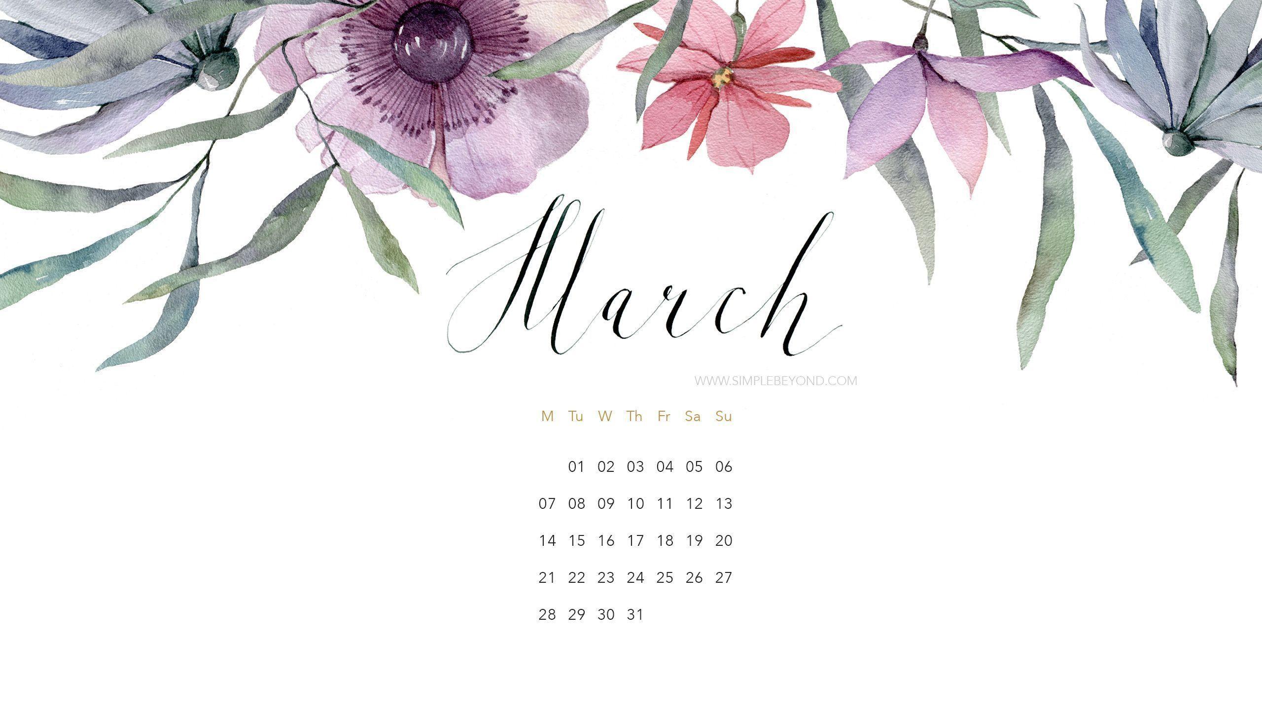 Calendar Wallpaper March : Desktop wallpapers calendar march wallpaper cave