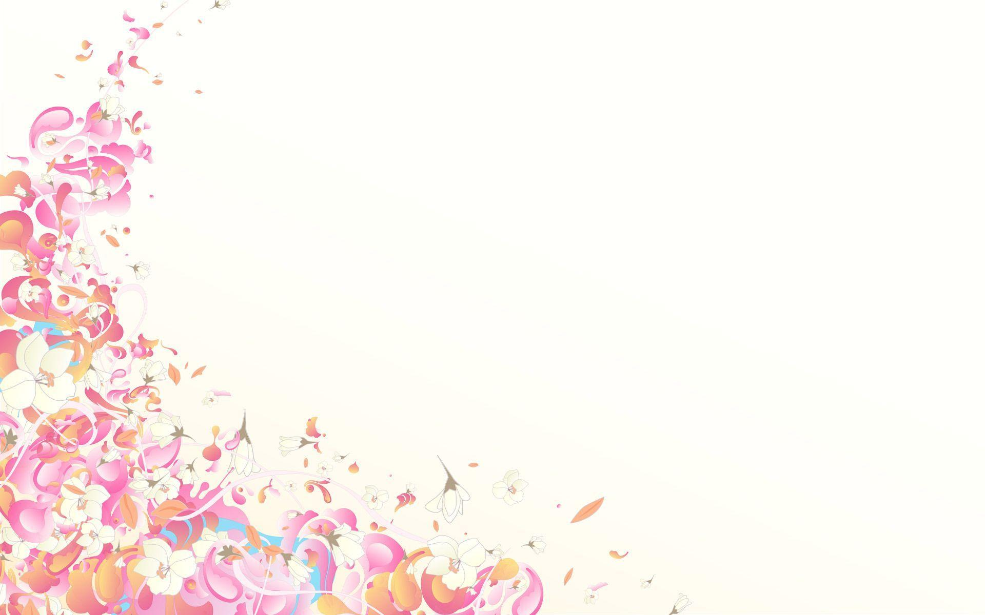 pastel prettyness pink border painting ppt backgrounds for