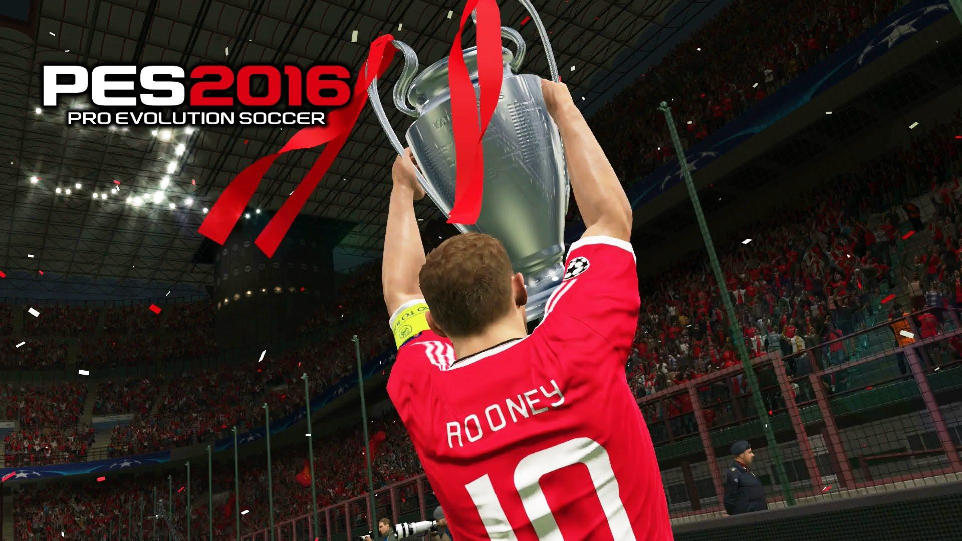 PES 2016 Final Champions League Barcelona vs Manchester United 0-1 ...
