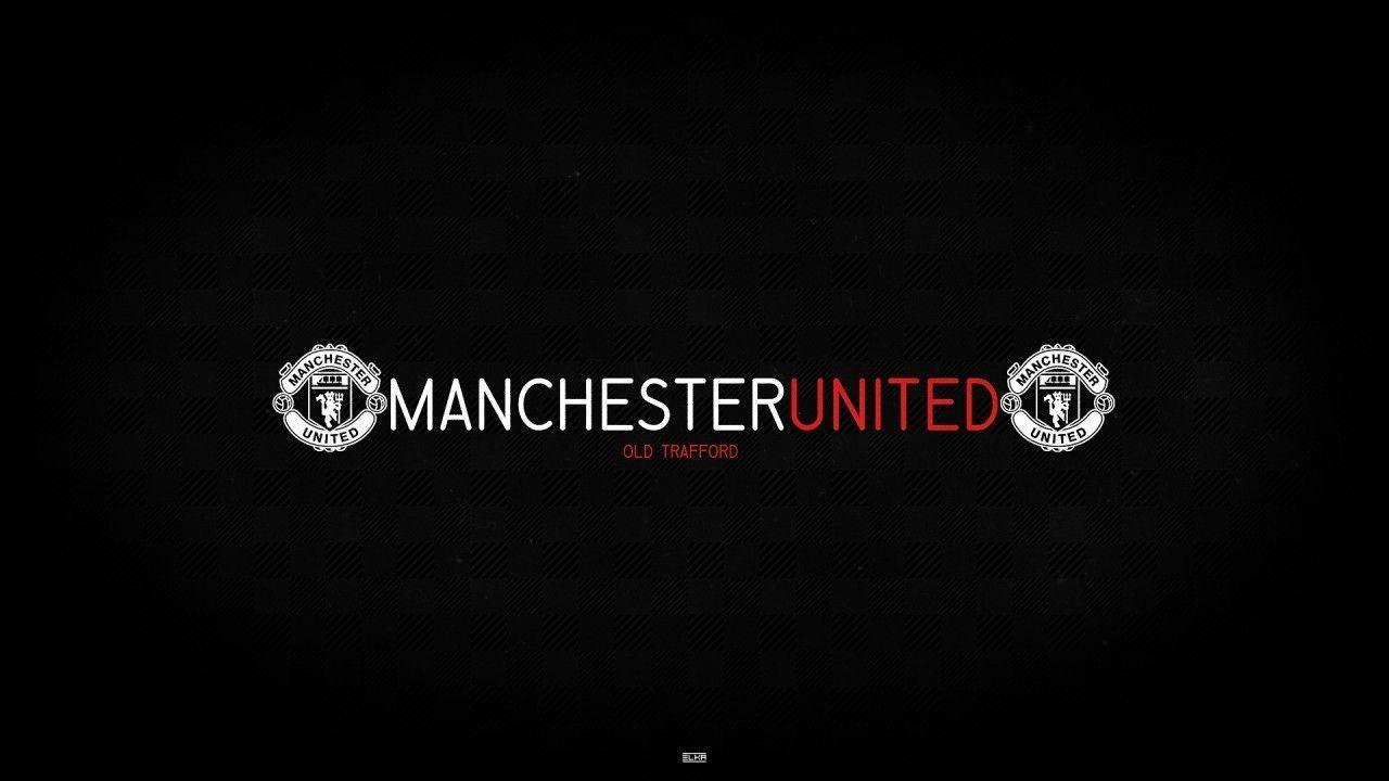 Beautiful Black And White Manchester United Logo Wallpaper Desktop ...