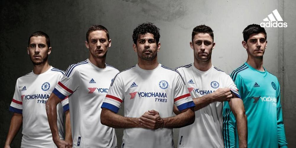 Chelsea FC 2015 2016 Home And Away Shirts Photos Replica