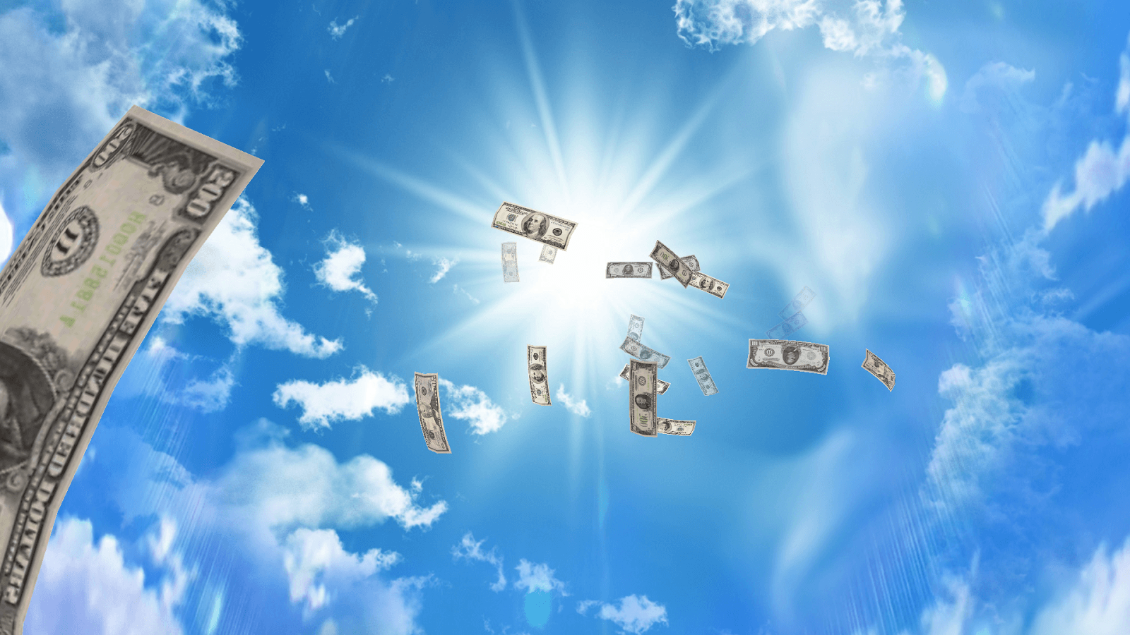 Falling Money 3D Wallpapers