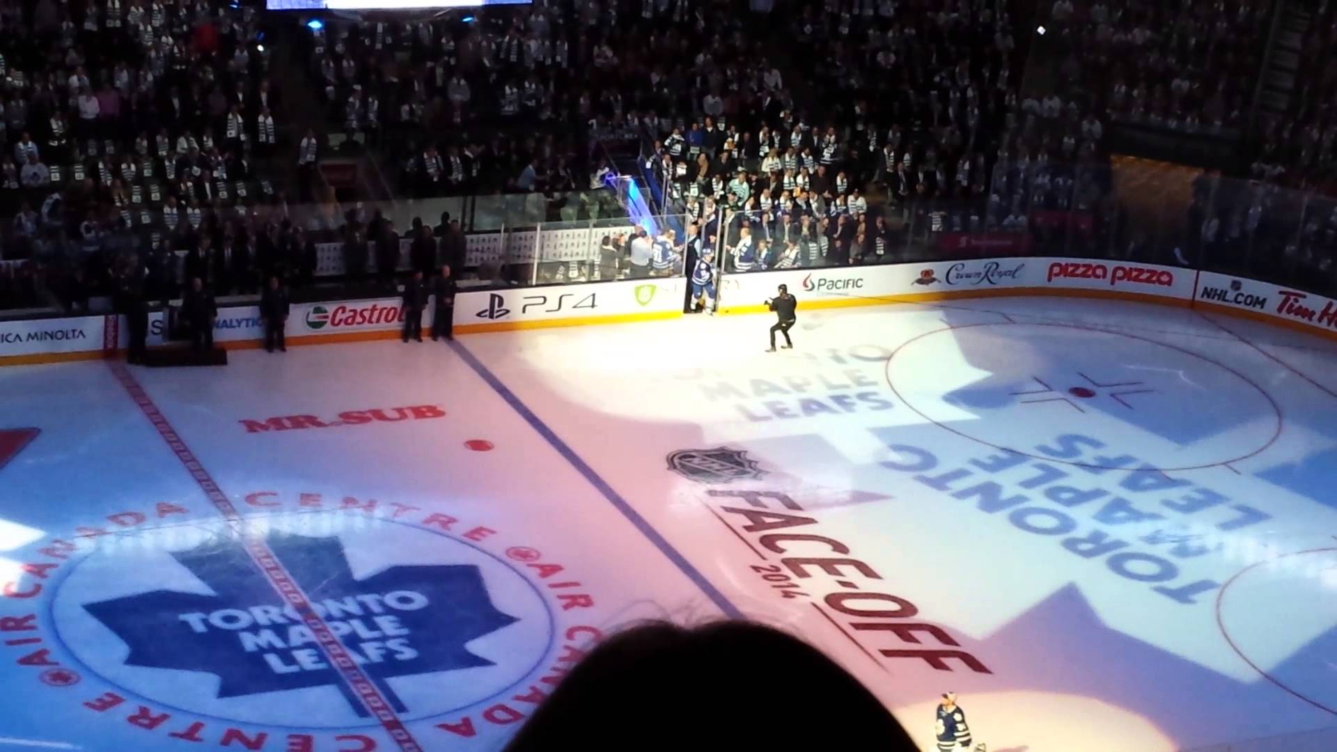 Toronto Maple Leafs opening ceremonies 2014