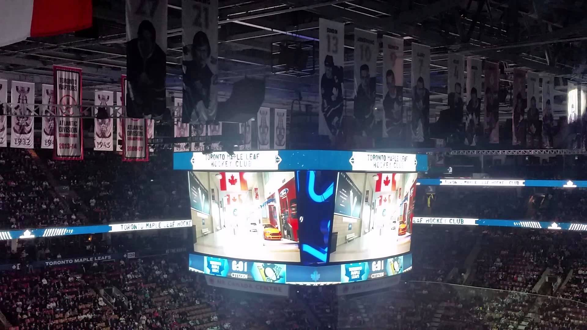Toronto Maple Leafs light show 2015