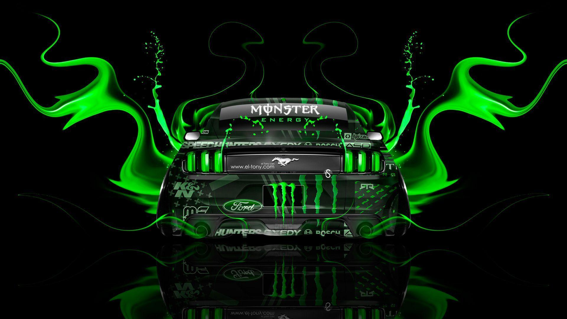 Green Monster Energy Wallpapers : Brands Wallpapers