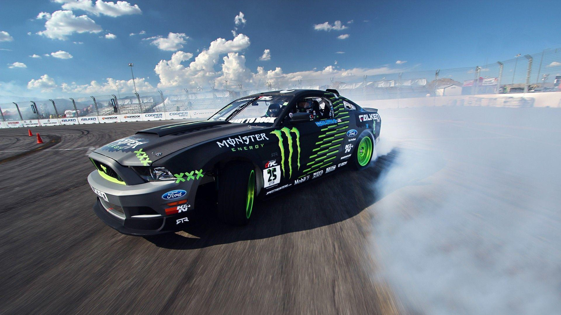 Ford Mustang, Monster Energy, Drift Wallpapers HD / Desktop and