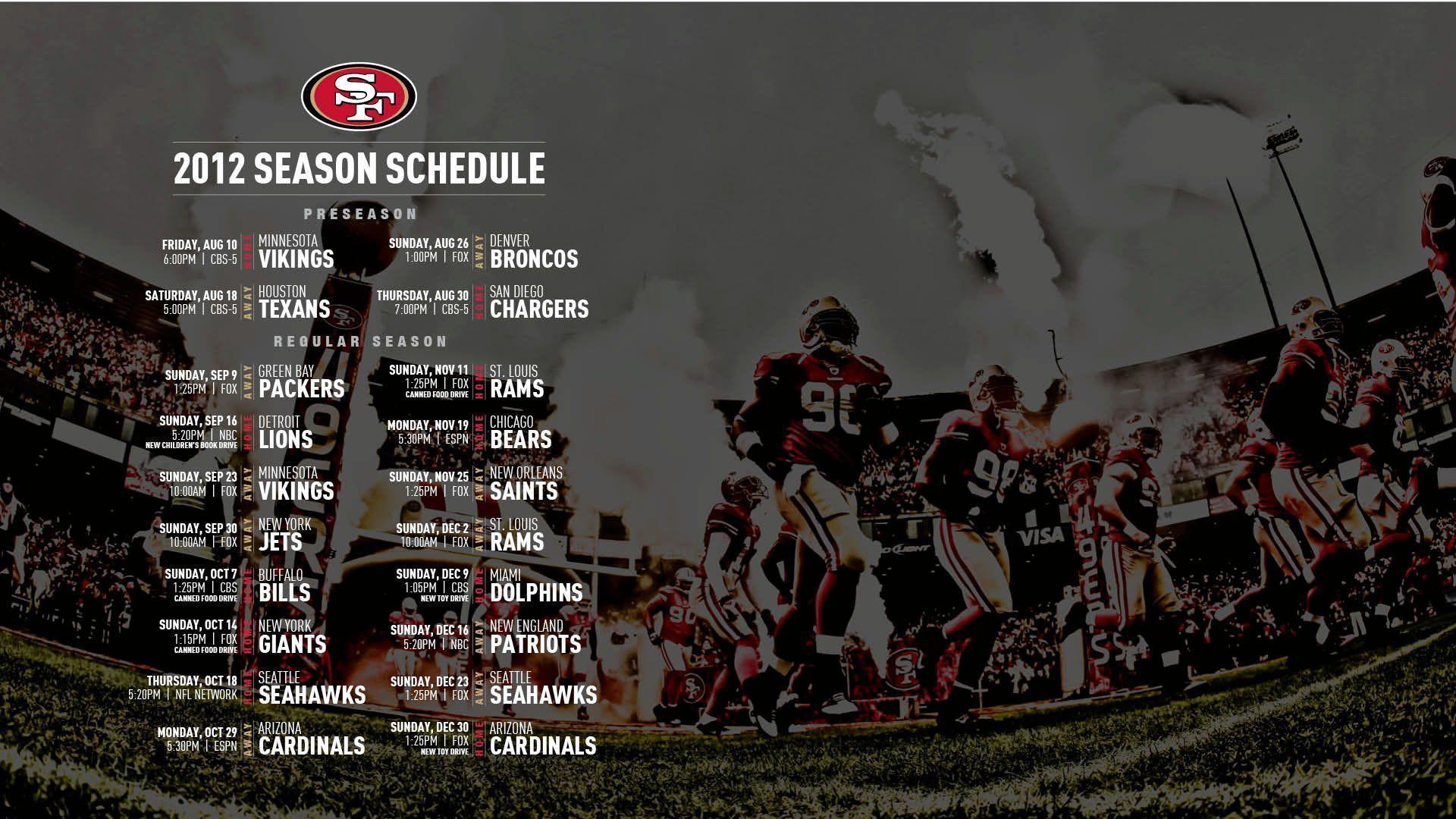 49ers 2016 schedule wallpapers wallpaper cave - 2015 49ers schedule wallpaper ...