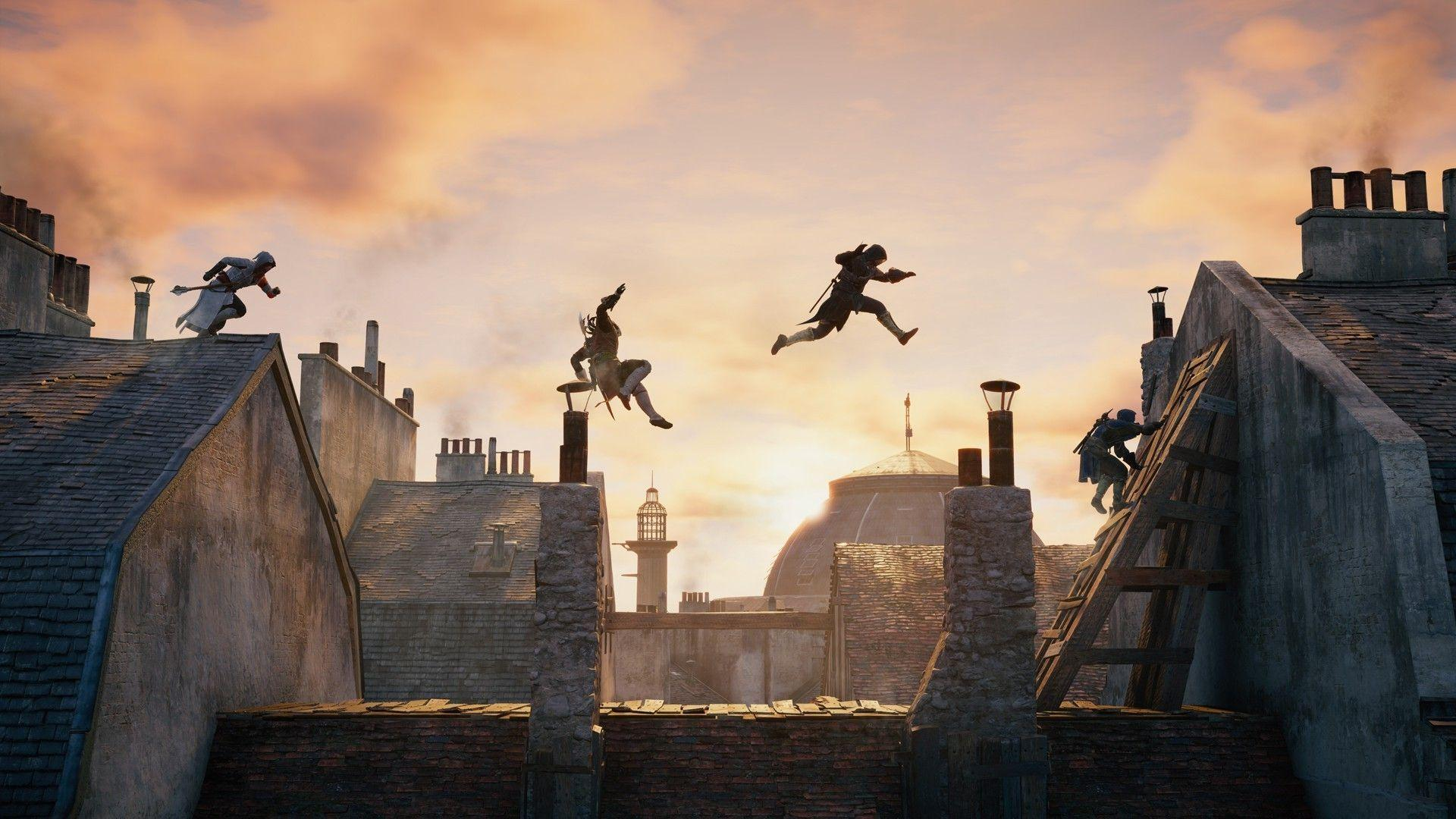 Download HD Assassins Creed Video Games Rooftops Parkour