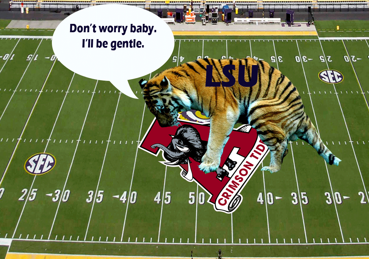 LSU Tigers vs Alabama Crimson Tide Desktop Computer Wallpaper .