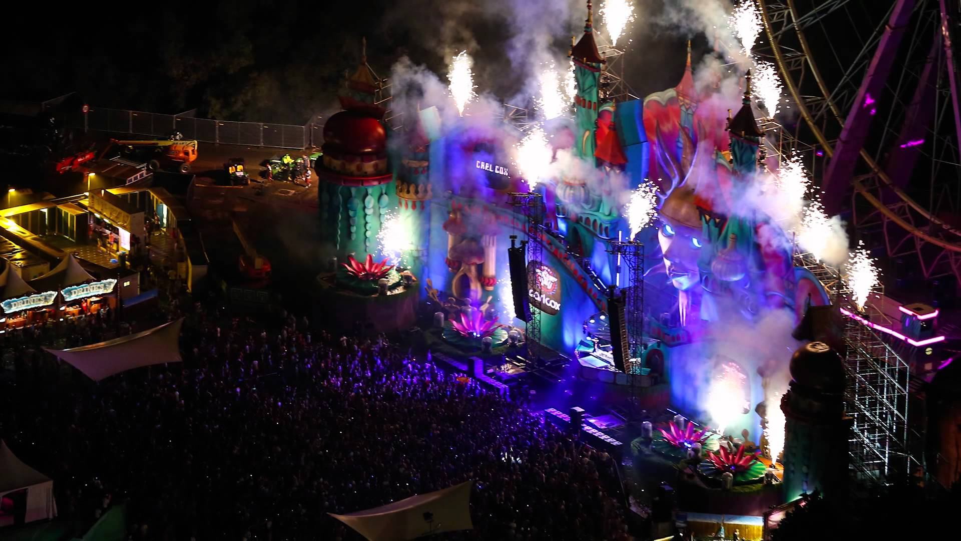 Tomorrowland 2016 Lase...