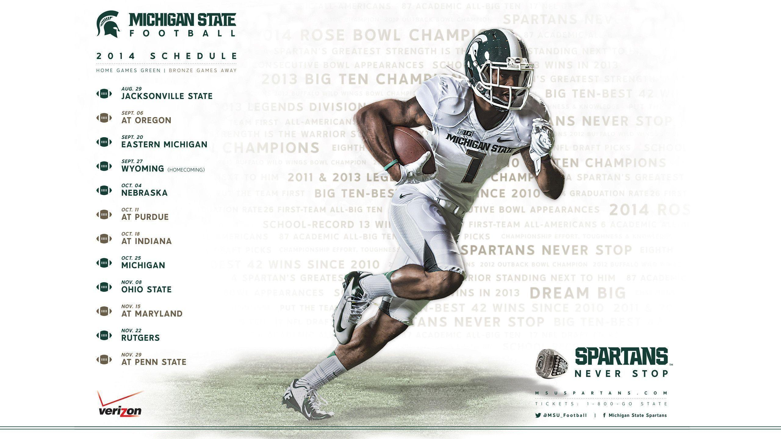msu football schedule 2016 wallpapers - wallpaper cave