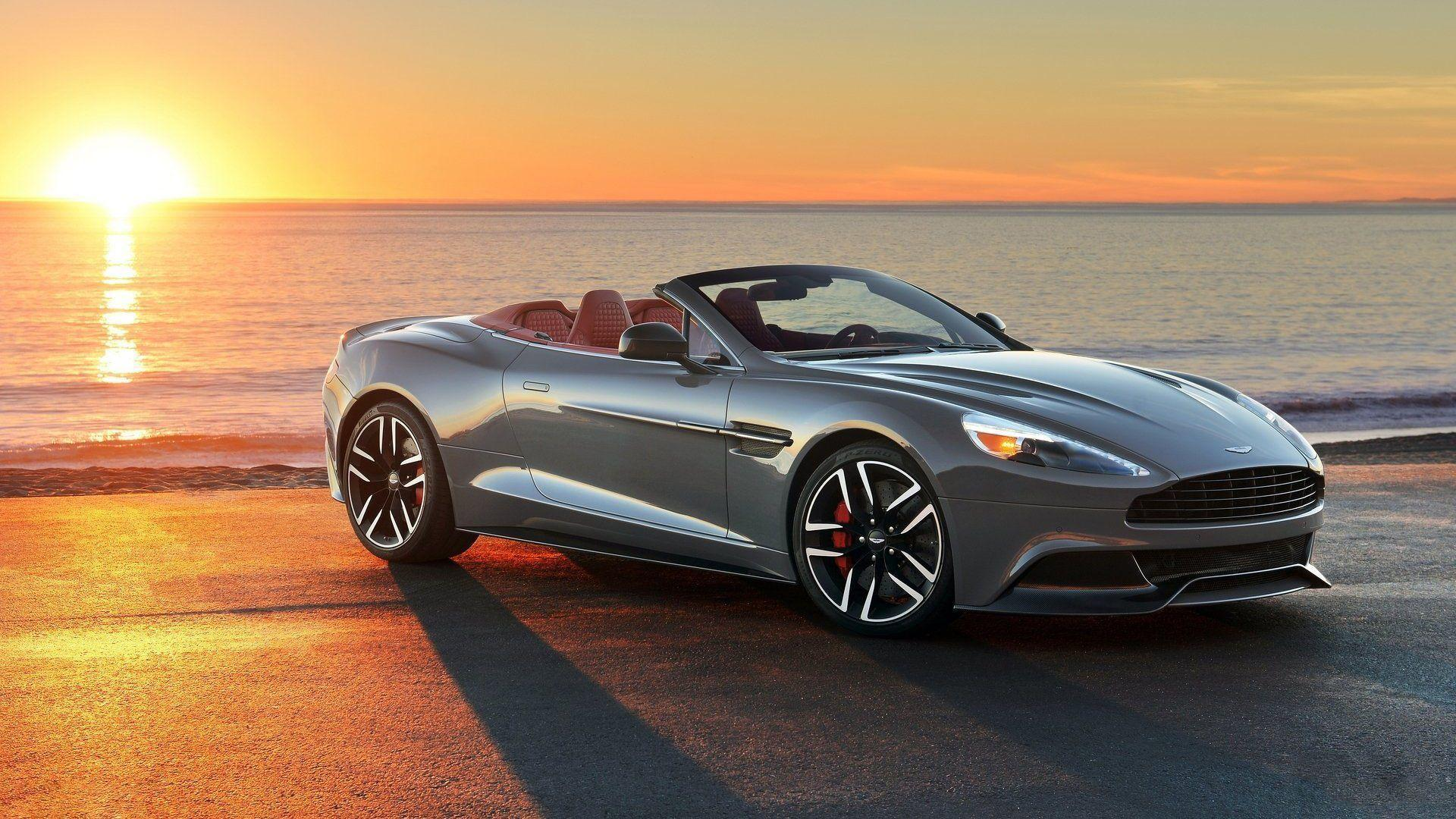 Aston Martin Vanquish Volante Sunset Wallpapers