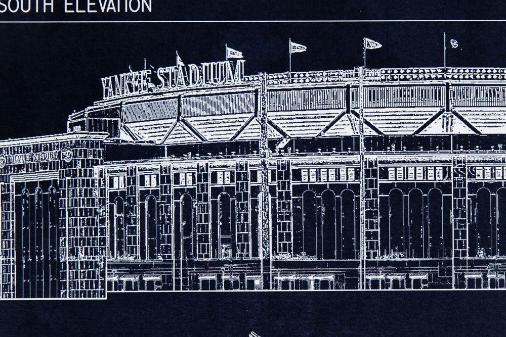 Yankee stadium wallpapers 2016 wallpaper cave yankee stadium blueprint style poster new york yankees ballpark malvernweather Gallery