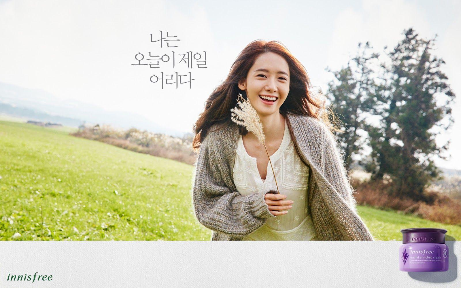 Yoona innisfree 「ORCHID ENRICHED CREAM」 2016 Promotion Wallpapers