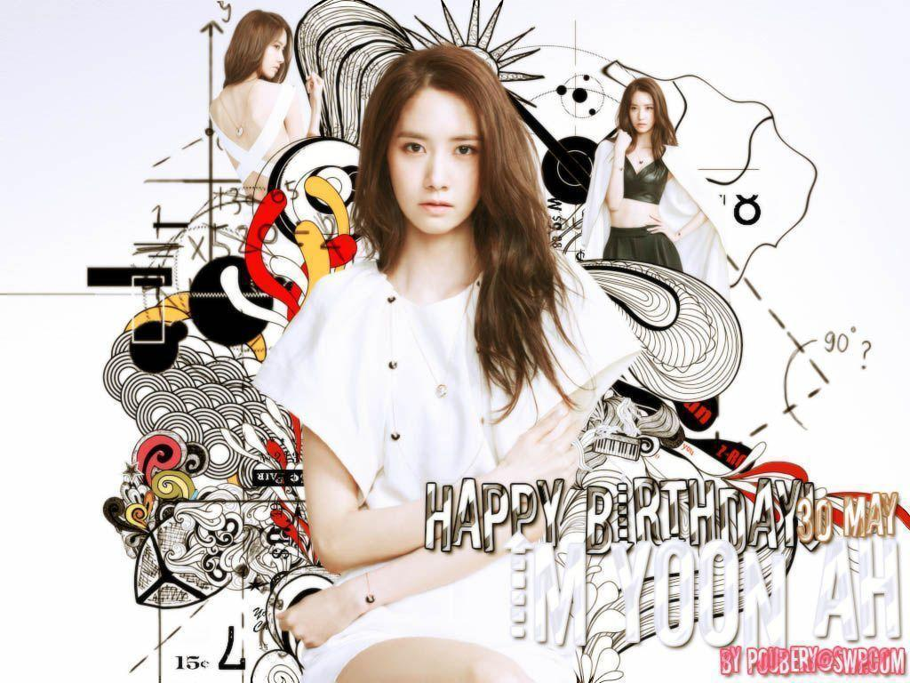 Wallpapers Yoona SNSD birthday! by poubery