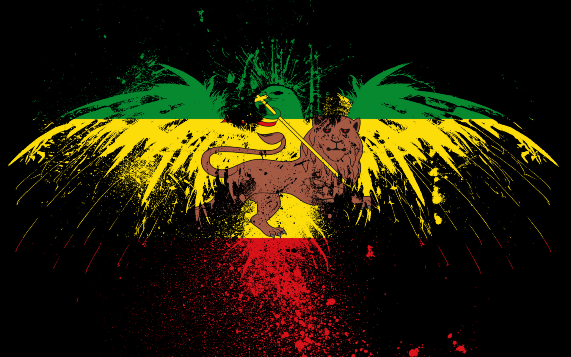 rasta colors backgrounds hd - photo #27