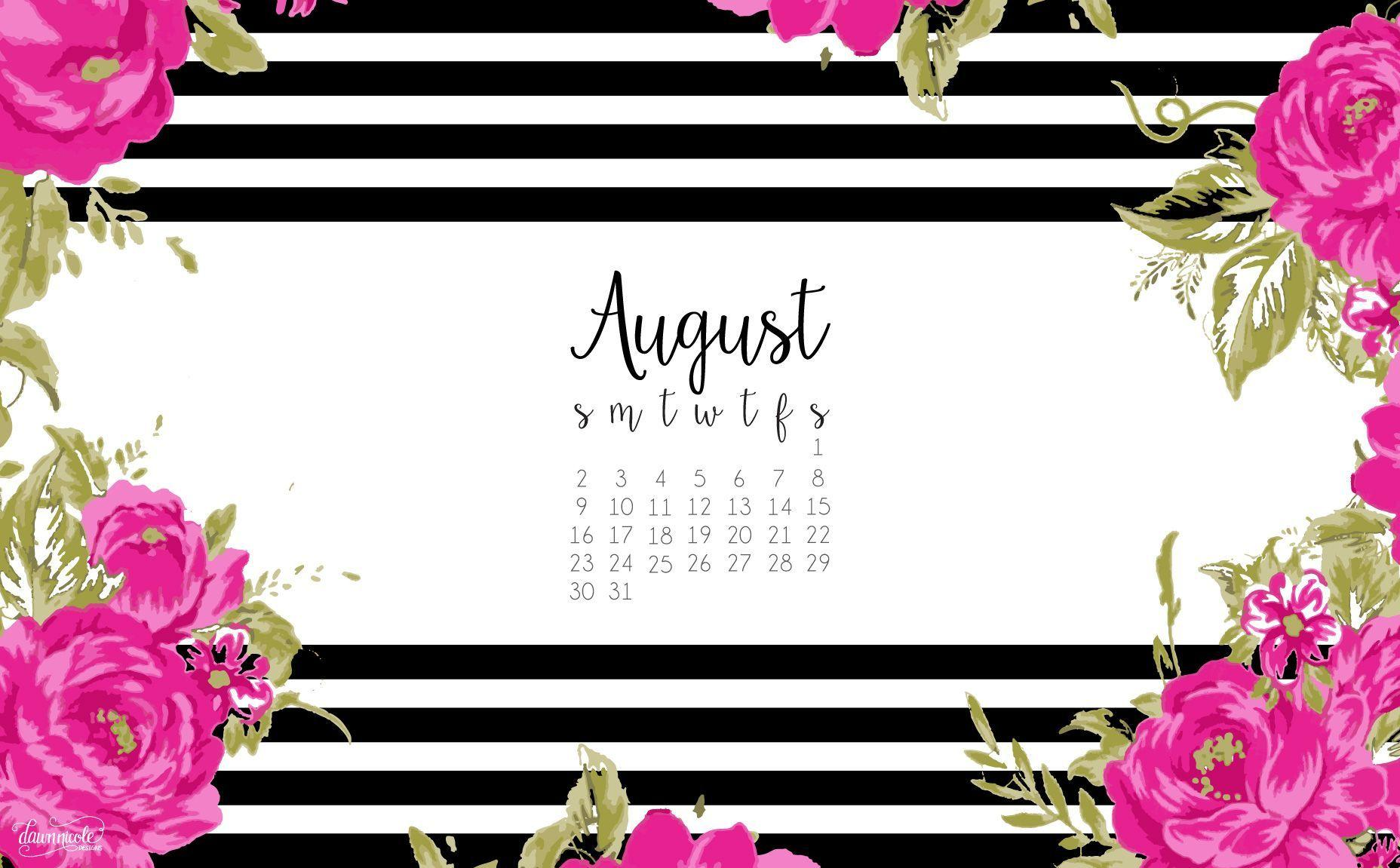 Calendar Desktop Wallpaper August : Desktop wallpapers calendar august wallpaper cave