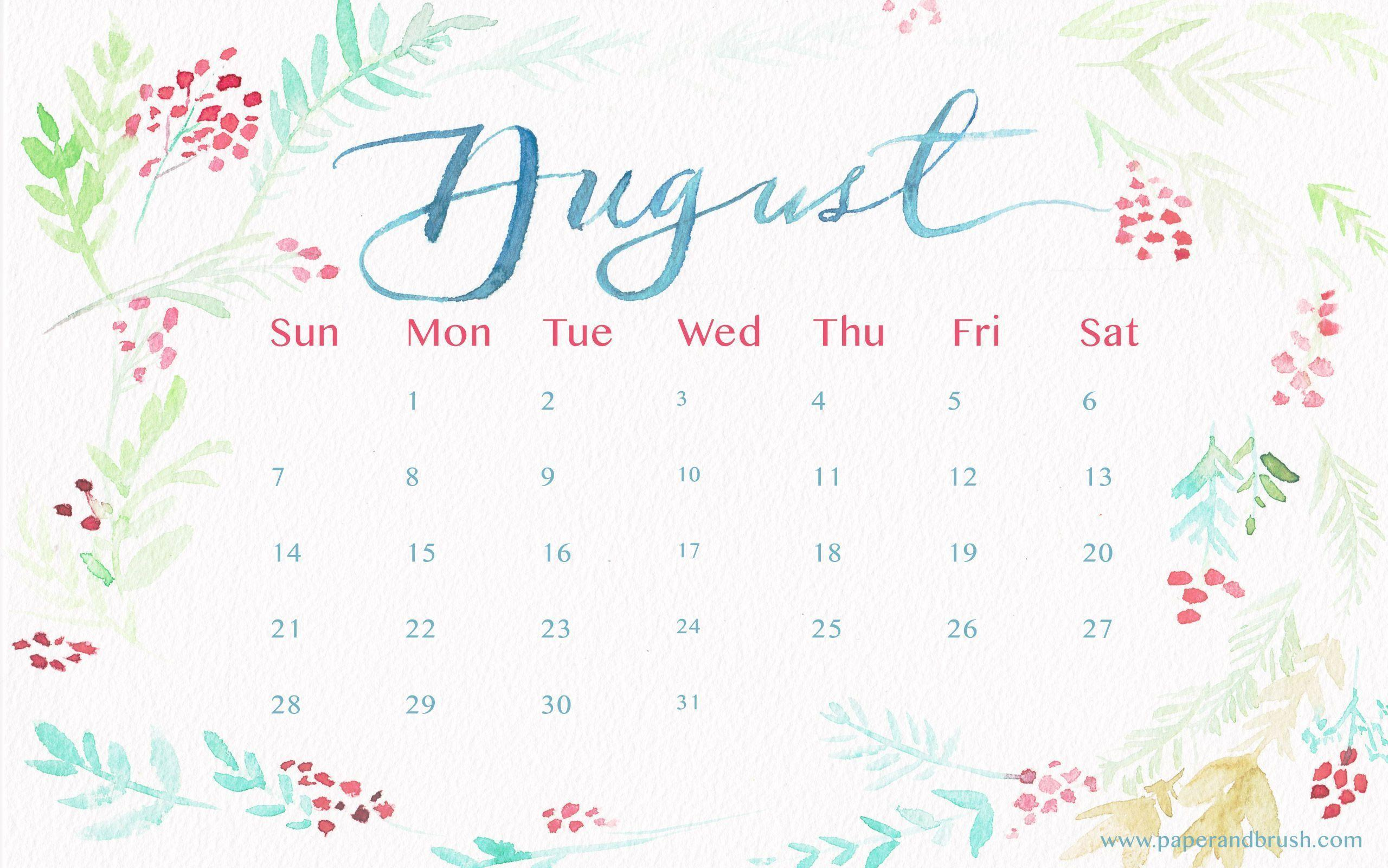 desktop wallpapers calendar august 2016 wallpaper cave