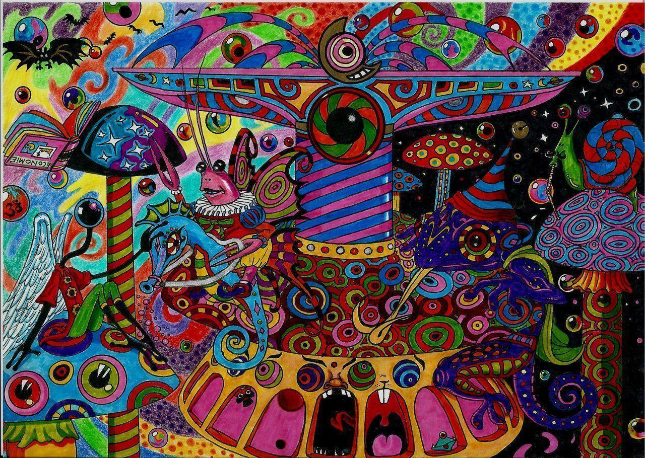 PSYCHEDELIC MERRY-GO-ROUND by Acid-Flo on DeviantArt