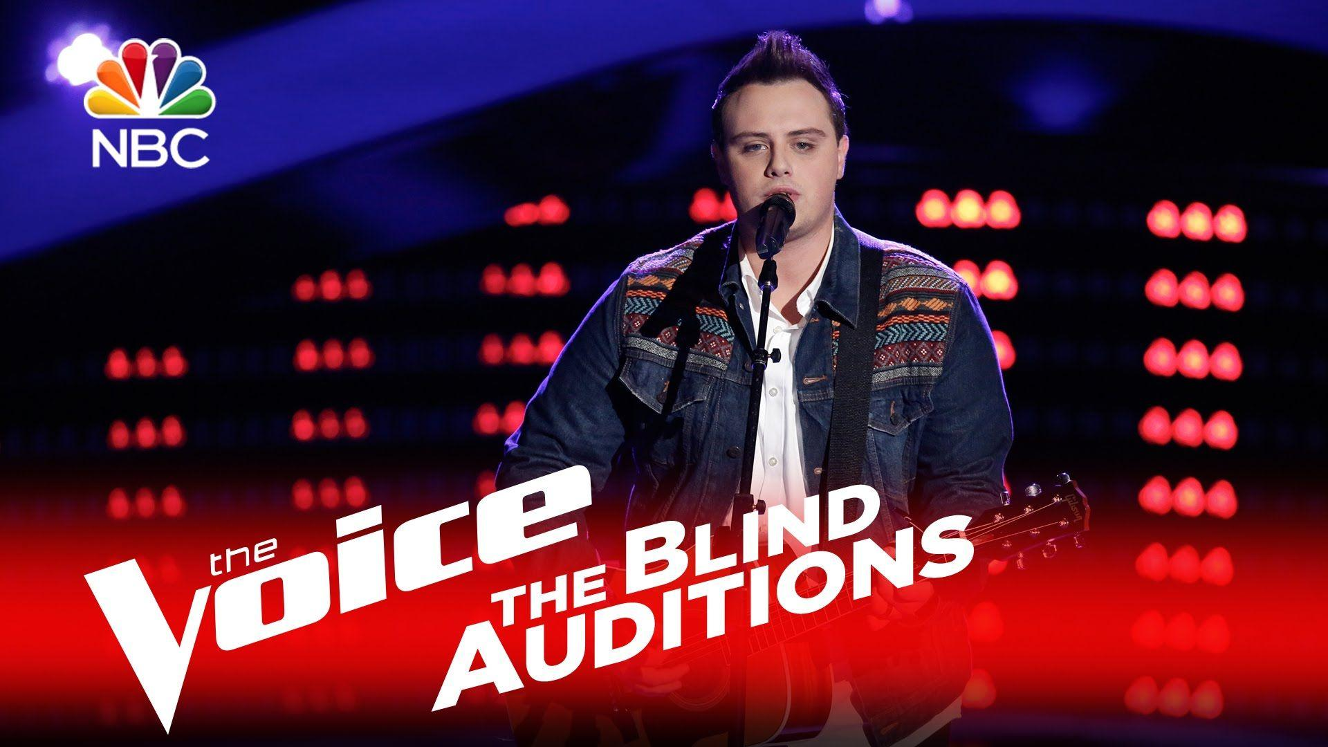 "The Voice 2016 Blind Audition - Jared Harder: ""Merry Go 'Round ..."