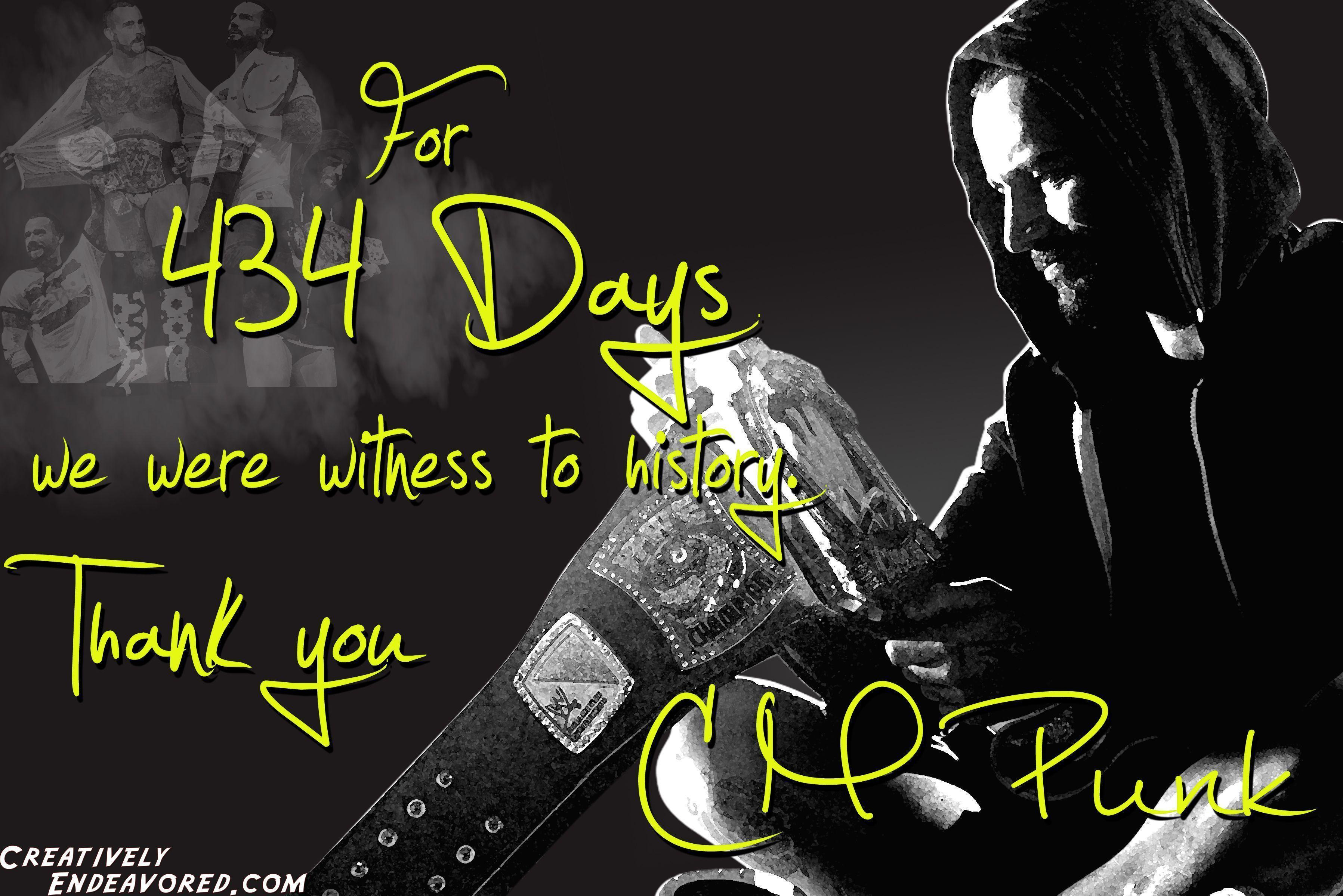 "Wallpapers Wednesday: CM Punk ""434"" Wallpapers"