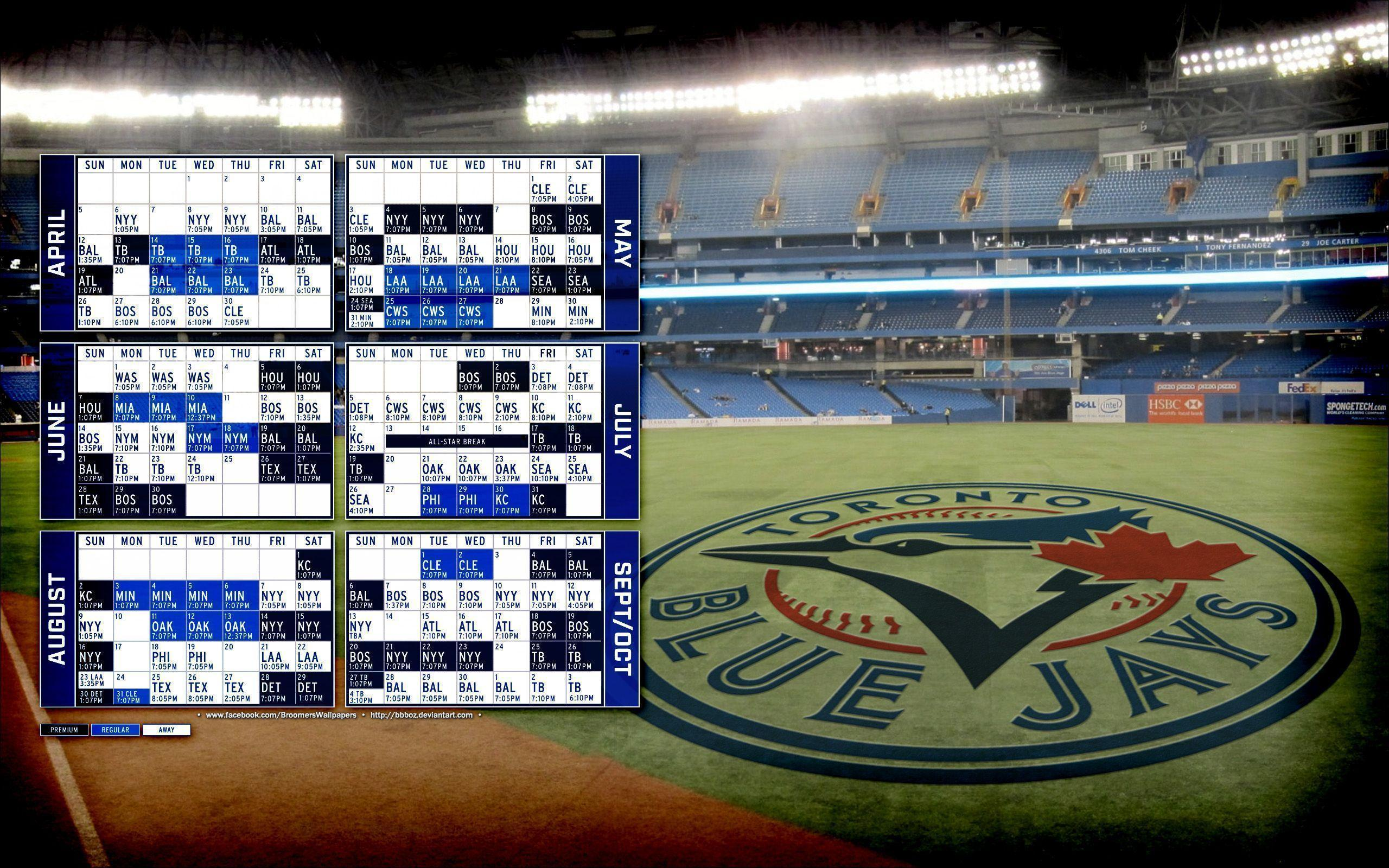 2015 Toronto Blue Jays schedule Wallpapers 16x10 by bbboz