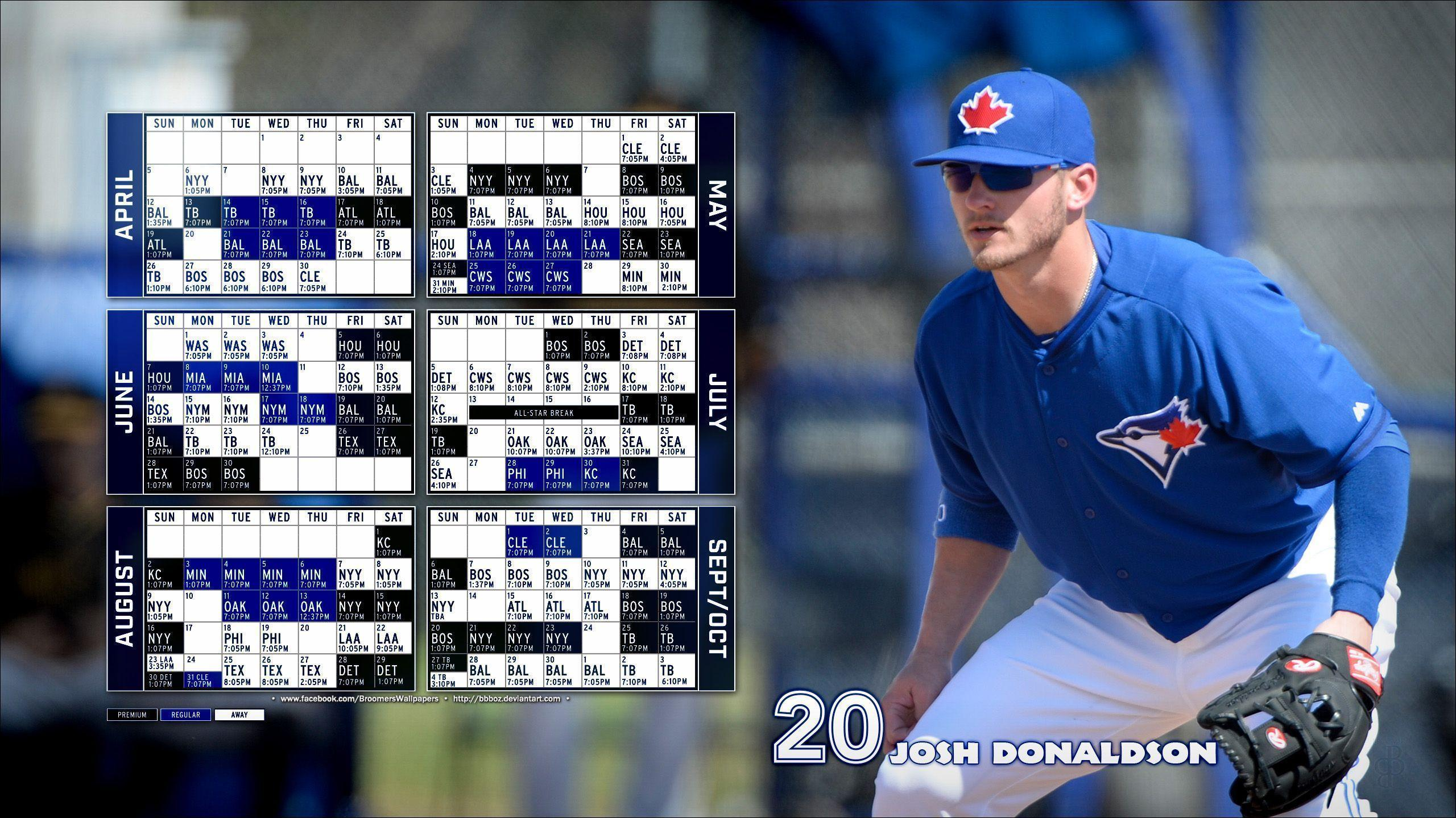 2015 Toronto Blue Jays schedule Wallpapers 16x9 by bbboz