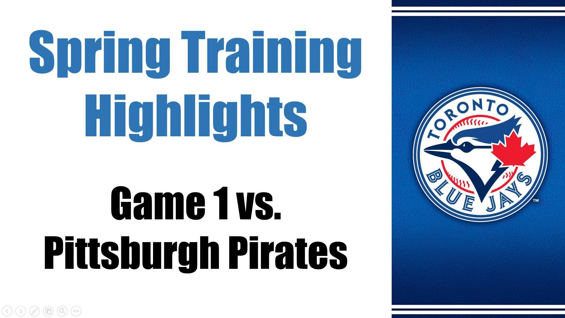 Game 1 2015 Spring Training Highlights