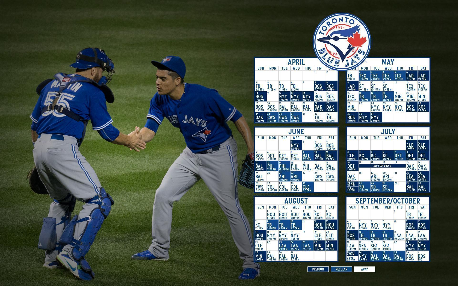 Russell Martin and Roberto Osuna Blue Jays 2016 Schedule Wallpapers