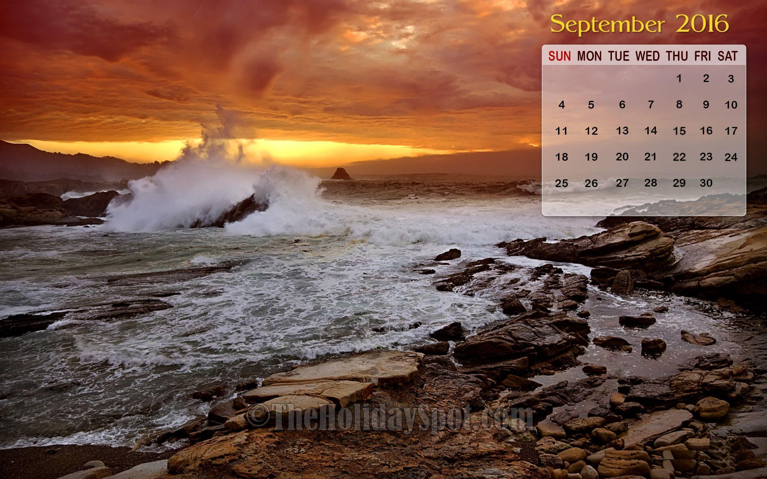 desktop wallpapers calendar september 2016 wallpaper cave