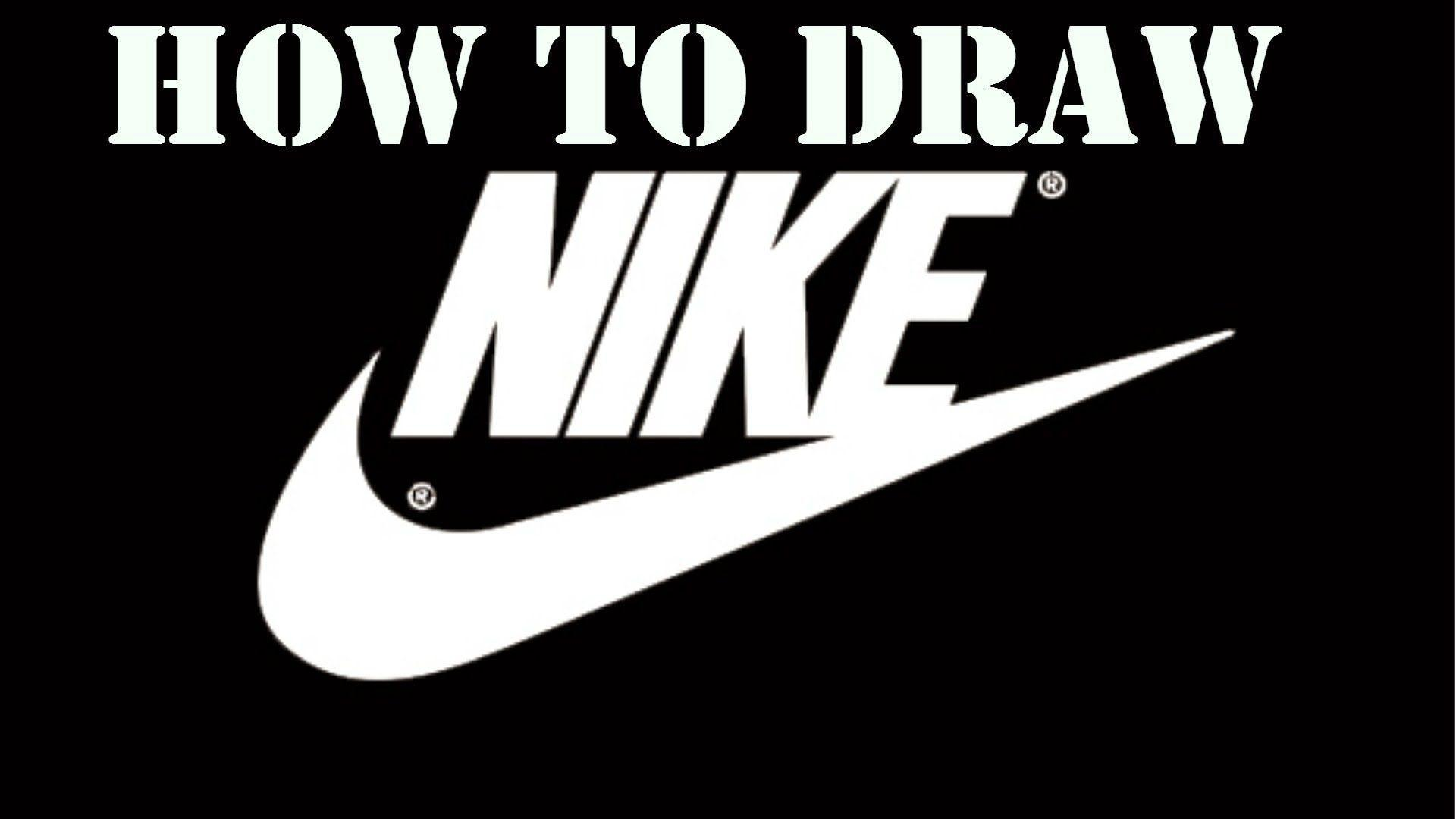 How to draw the nike logo! - YouTube