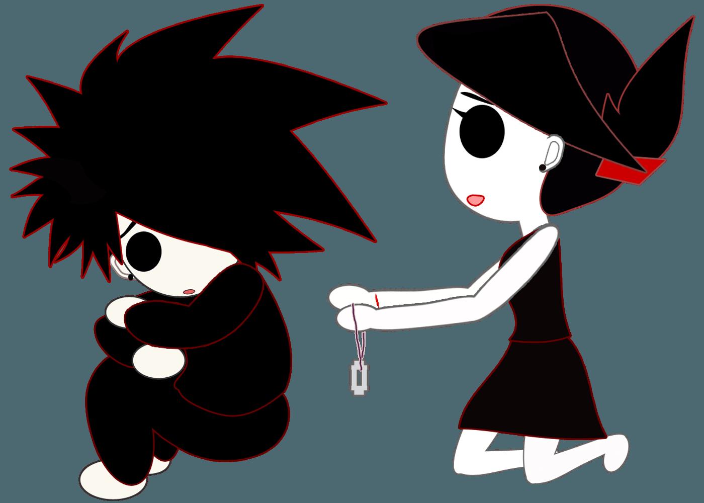 500 Koleksi Gambar Animasi Emo Love Keren Gratis Terbaik