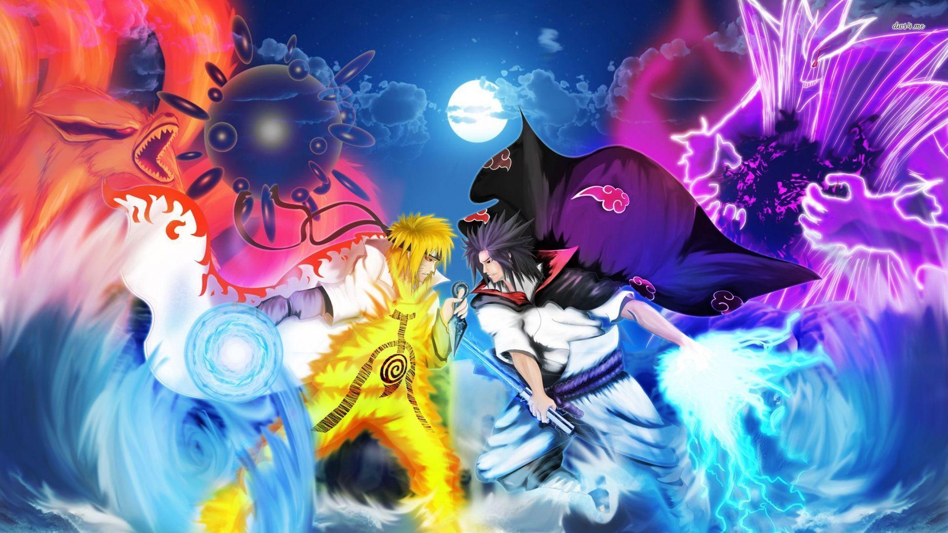 Naruto Akatsuki Naruto And Sasuke Wallpaper Hd For Android