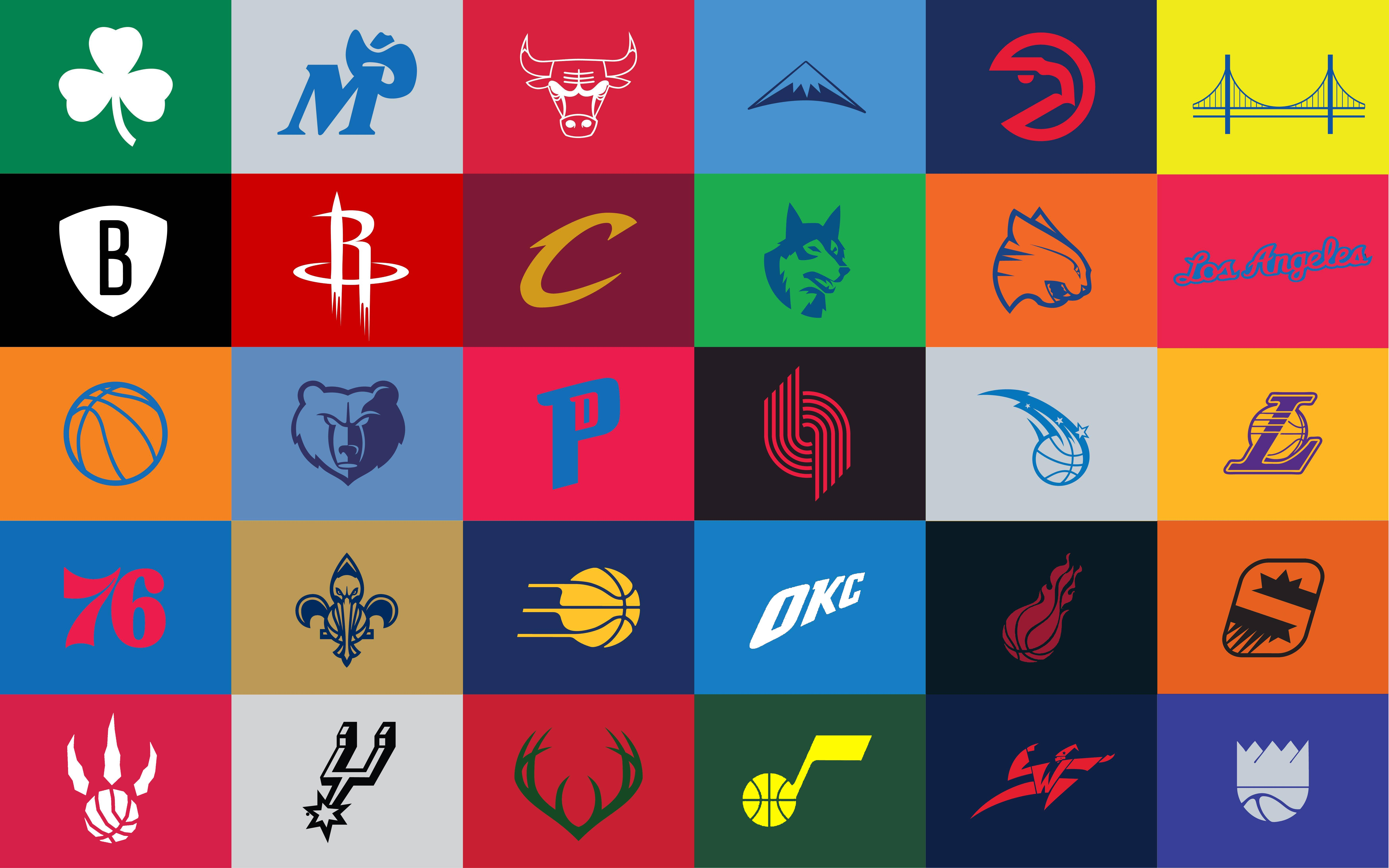 I made a few adjustments to the minimalist NBA logos wallpaper ...