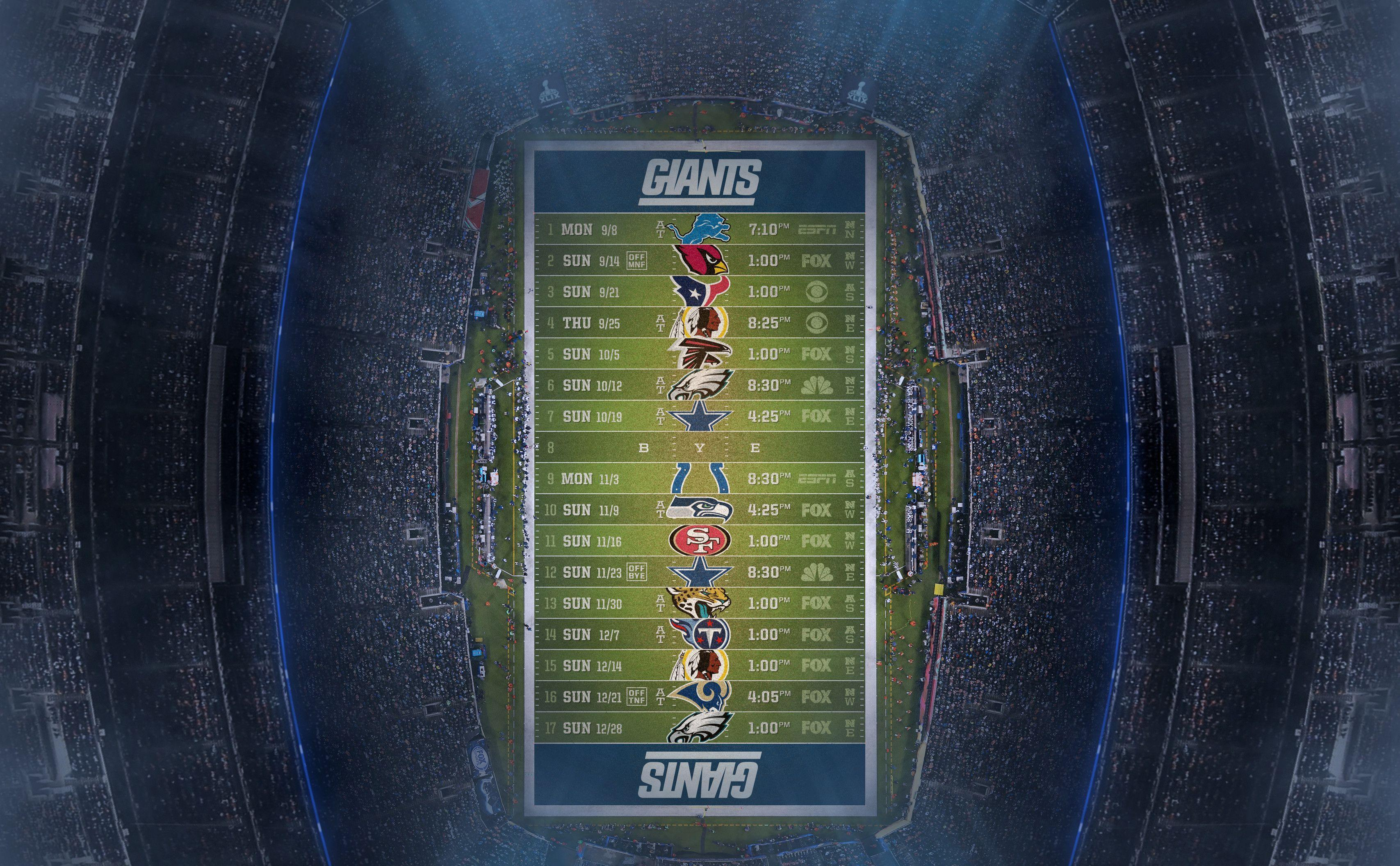 Ladies and gents, the 2014 team season schedules designed for