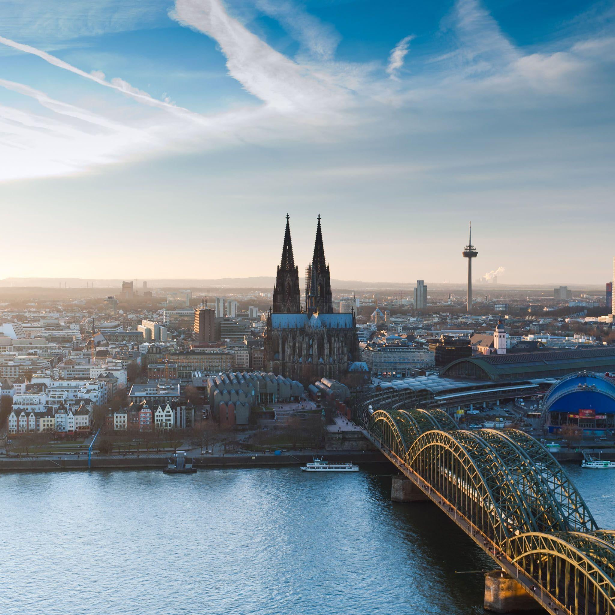 Cologne Cathedral At Dusk Evening Cityscape Wallpaper: Wallpapers Alemania 2016