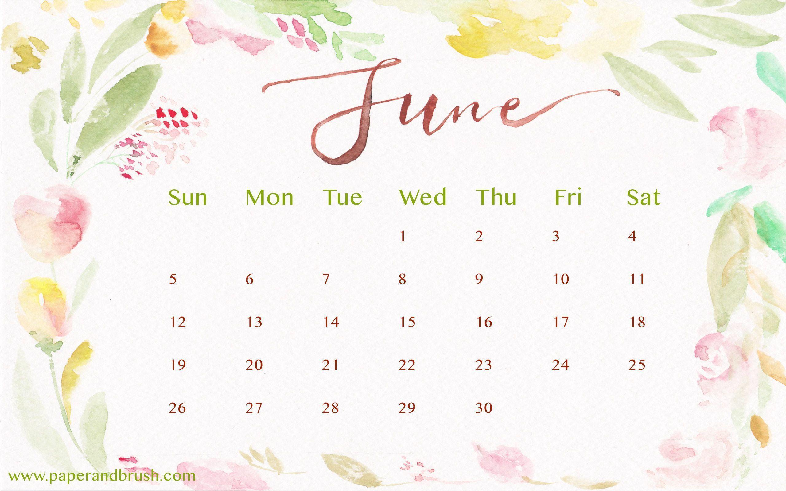 June Calendar Background : Desktop wallpapers calendar june wallpaper cave
