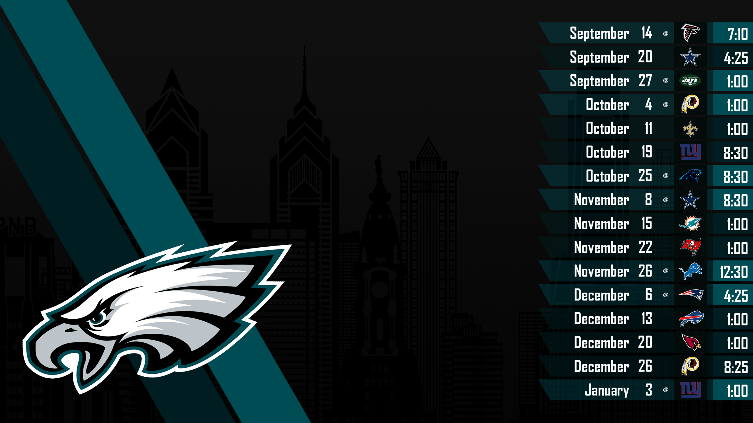 Free Philadelphia Eagles Wallpapers Group 2560×1440