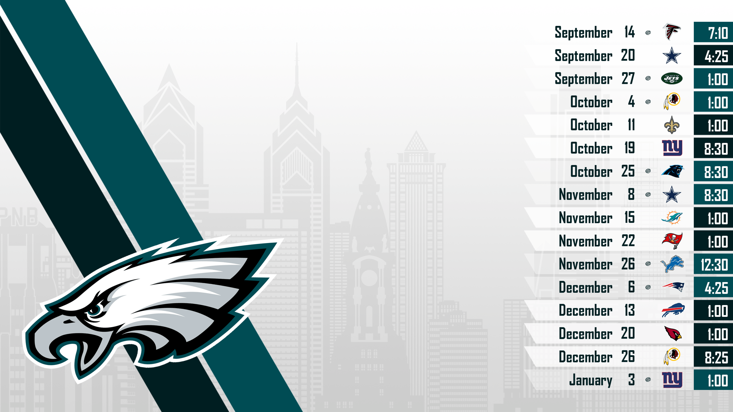 2015 Schedule Wallpapers Update : eagles