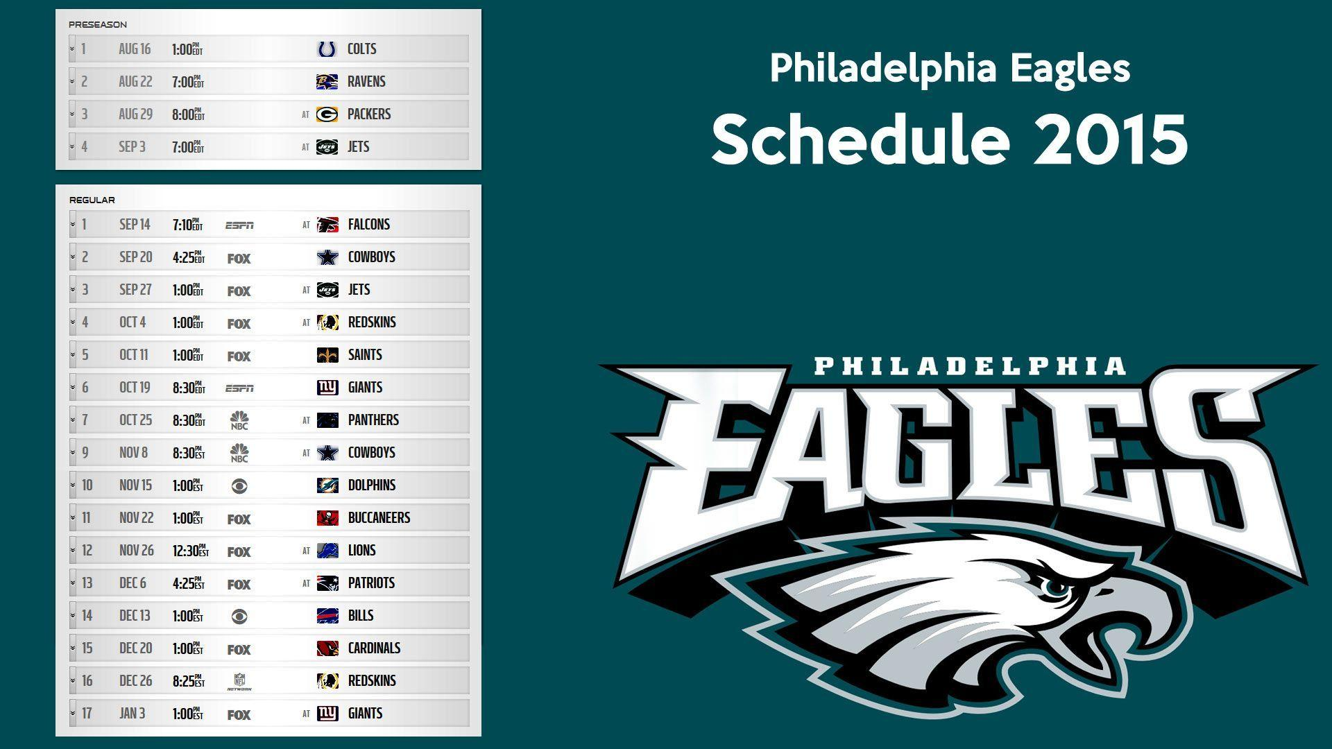Philadelphia Eagles schedule 2015 wallpapers – Free full hd