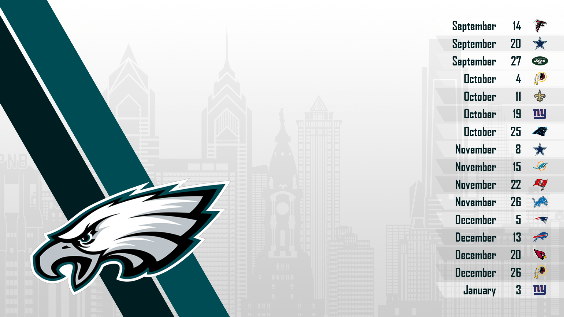 2015 Schedule Wallpapers : eagles