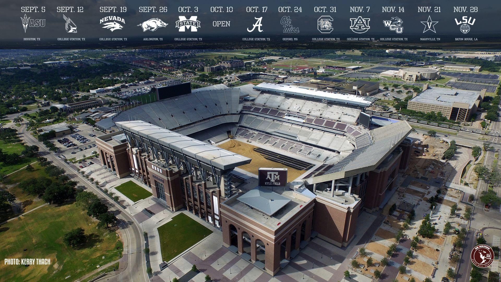 New Texas A&M wallpapers of Renovated Kyle Field for your phones